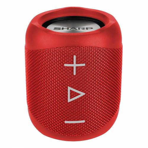 Sharp GX-BT180 Kabelloser Lautsprecher Bluetooth-Lautsprecher (14 W), Rot