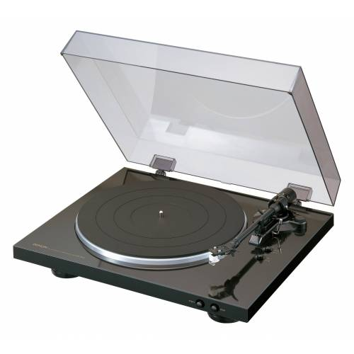 Denon »DP-300F Plattenspieler« Plattenspieler (Riemenantrieb), schwarz