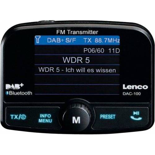 Lenco »DAC-100« Autoradio (Digitalradio (DAB), FM-Transmitter, Automatische Senderverfolgung)