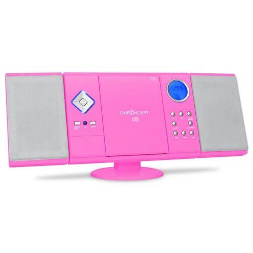 ONECONCEPT »V-12 Stereoanlage USB SD CD MP3 AUX UKW pink« Kompaktanlage (UKW/MW-Radioreceiver, 0 W), Pink