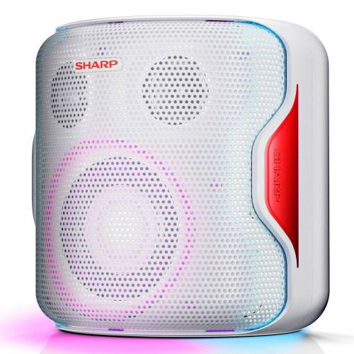 Sharp PS-919 Party Bluetooth-Lautsprecher Bluetooth-Lautsprecher (130 W), Weiß