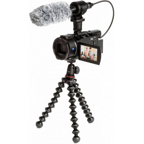 Sony »FDRAX53VGPDI.EU« Camcorder (4K Ultra HD, NFC, WLAN (Wi-Fi), 20x opt. Zoom, inkl. CG-60 Mikrofon & JOBY GorillaPod)