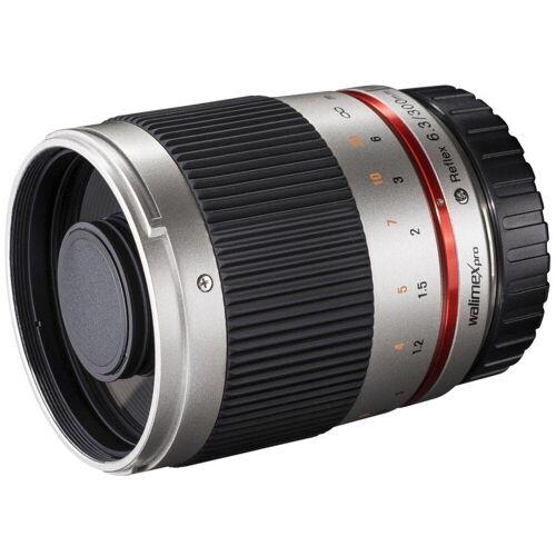 walimex »pro 300mm F6,3 CSC Spiegel Sony E silber« Objektiv