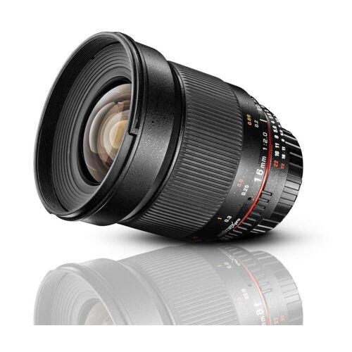walimex »pro 16mm F2,0 DSLR Nikon F AE« Objektiv