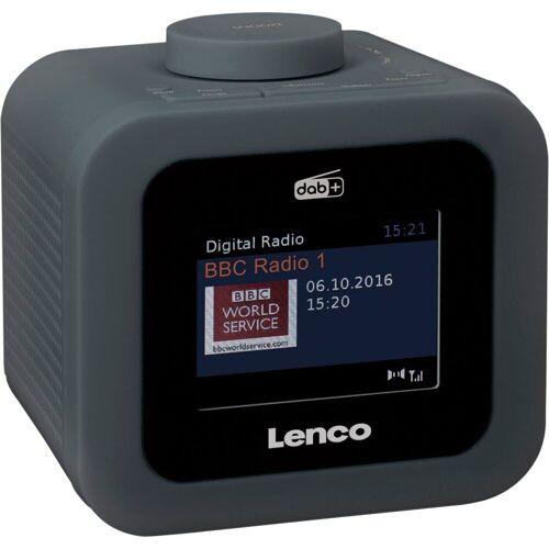 Lenco »CR-620« Radiowecker (Digitalradio (DAB), FM-Tuner, 2 W), grau