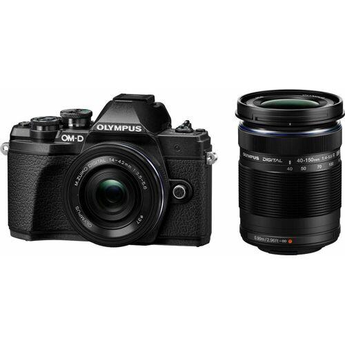 Olympus »E-M10 Mark III DZK« Systemkamera (Zuiko Digital ED, 17,2 MP, WLAN (Wi-Fi), HDR-Aufnahme), schwarz