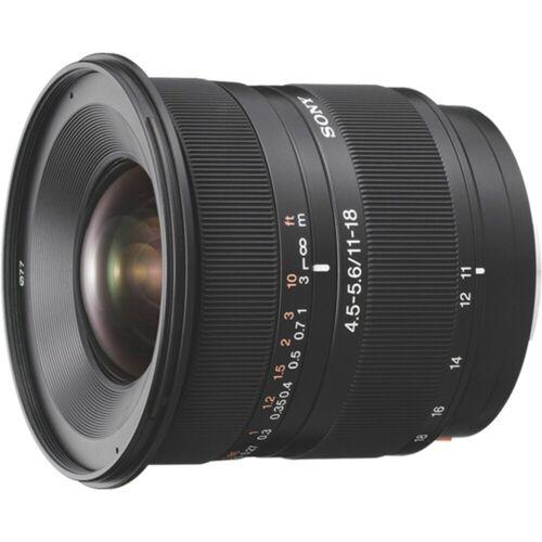 Sony Objektiv »A-Mount-Objektiv 11-18 mm, F4.5-5.6 SAL1118«, Schwarz