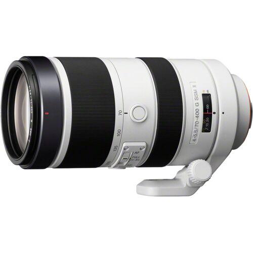 Sony Objektiv »Vollformat-Teleobjektiv 70-400 mm F4-5,6«, Weiß-Schwarz