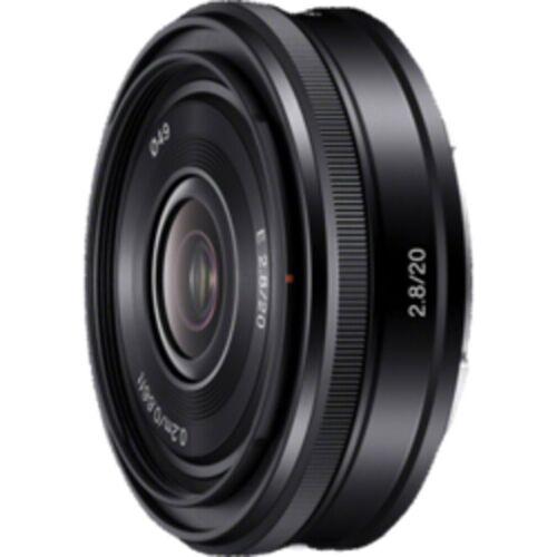Sony Objektiv »E-Mount APS-C Festbrennweite 20 mm F2.8«, Schwarz