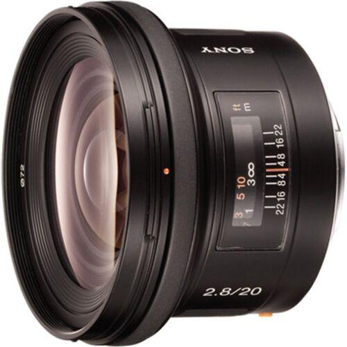 Sony Objektiv »20F28 A-Objektiv für Digitalkameras«, Schwarz