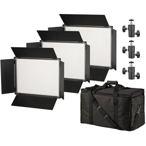 BRESSER Flächenleuchte »SH-1200A Bi-Color LED Flächenleuchten 3er Set«