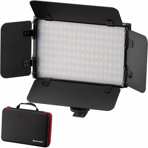BRESSER Videoleuchte »PT Pro 15B-II Bi-Color LED mit Klappen und Akku«