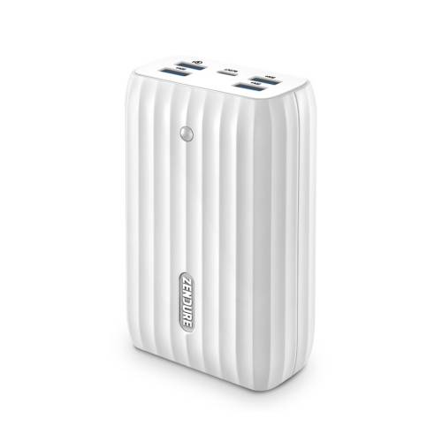 Zendure »X6 Powerbank & Hub 45W« Powerbank 2 in 1 Powerbank & USB-Hub, Passthrough Charging, USB Hub 2.0, USB-C PD In & Out 45W, USB-A QC 3.0 Ports, handgepäckstauglich 20100 mAh, weiß