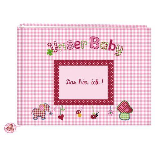 Coppenrath Album »Unser Baby, Stoff-Fotoalbum rosa«