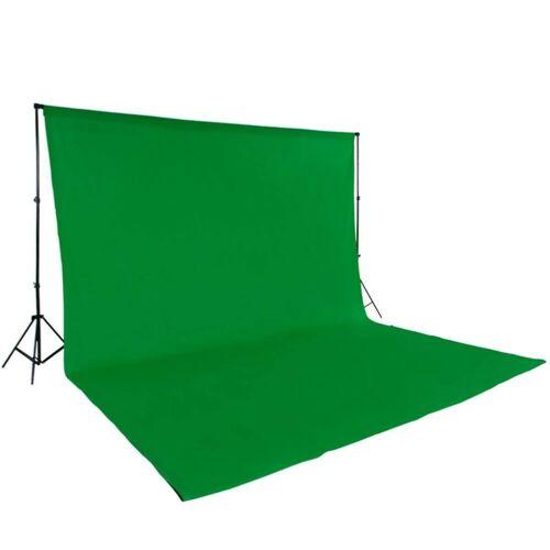 tectake Fotohintergrund »Fotohintergrund Komplettset«, grün