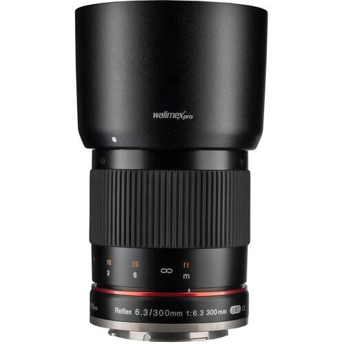 walimex »pro 300mm F6,3 CSC Spiegel Sony E schwarz« Objektiv