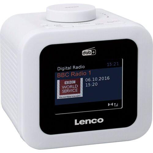 Lenco »CR-620« Radiowecker (Digitalradio (DAB), FM-Tuner, 2 W), weiß