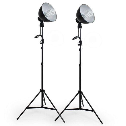 tectake »2 Studioleuchten im Set mit Stativ und« Studio-Stativ-Blitz