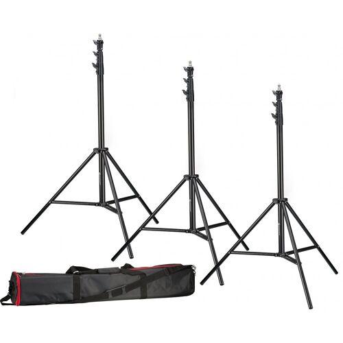 BRESSER Stativset »3x BR-TP280 PRO-1 Stativ (280 cm) + Tasche«