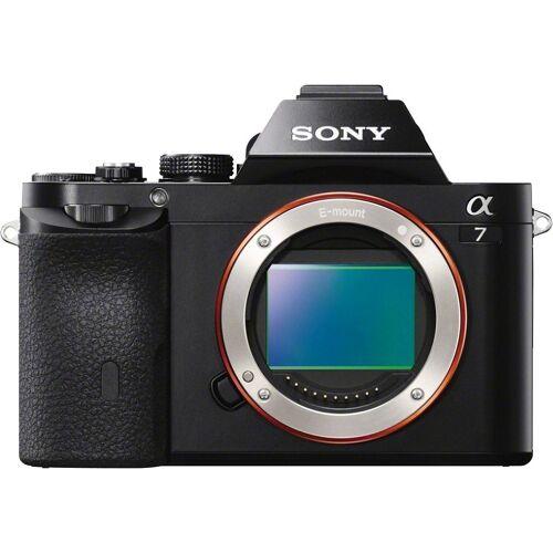 Sony »ILCE-7B - Alpha 7 E-Mount« Systemkamera (24,3 MP, Exmor CMOS Vollformatsensor, 7,5 cm (3 Zoll) LCD Display, Full HD Video, NFC, WLAN (Wi-Fi), nur Gehäuse)