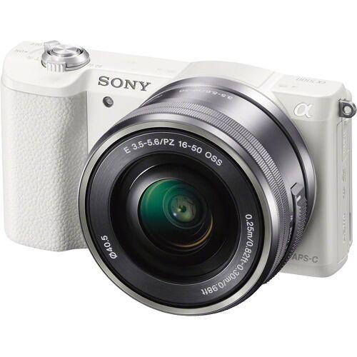 Sony »a5100 / ILCE-5100L« Systemkamera (SEL-P1650, 24,3 MP, WLAN (Wi-Fi), NFC), weiß