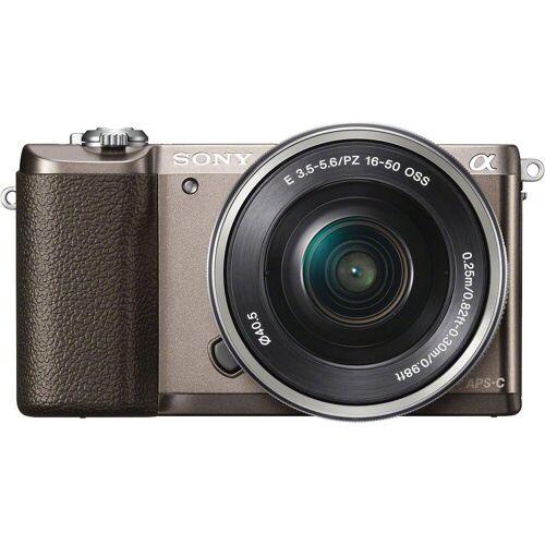 Sony »a5100 / ILCE-5100L« Systemkamera (SEL-P1650, 24,3 MP, WLAN (Wi-Fi), NFC), braun