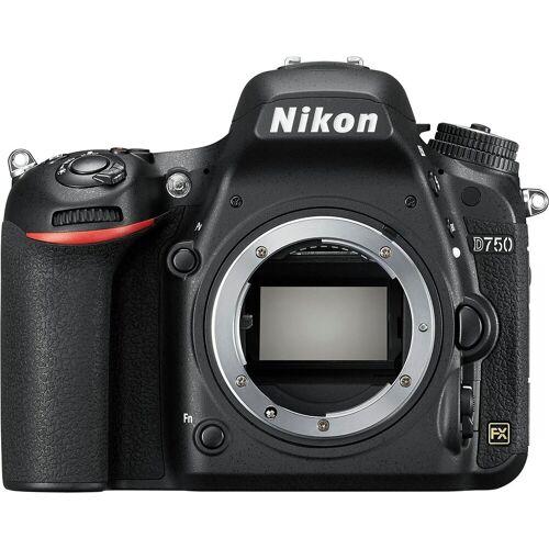 Nikon »D750« Spiegelreflexkamera (24,3 MP, WLAN (Wi-Fi), Monitor RGBW-Technik mit über 1,2 Millionen Bildpunkten, AF-System mit 51 Messfeldern inklusive 15 Kreuzsensoren)