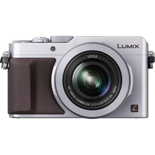 Panasonic Lumix Panasonic »DMC-LX100EG« Kompaktkamera (Leica DC Vario-Summilux, 12,8 MP, 3x opt. Zoom, WLAN (Wi-Fi), NFC, 4,3 fach optischer Zoom), silberfarben
