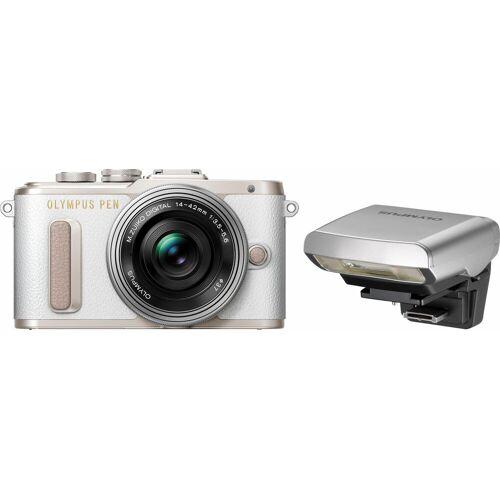 Olympus »E-PL8« Systemkamera (14-42mm EZ Pancake, 16,1 MP, WLAN (Wi-Fi), Makroaufnahme, HDR-Aufnahme, 3D, Gesichtserkennung), weiß