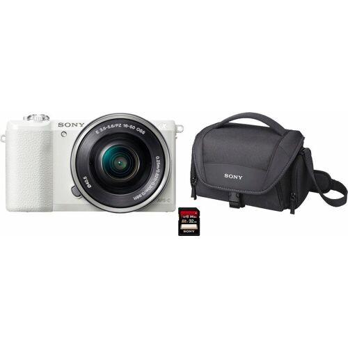 Sony »Alpha ILCE-5100L« Systemkamera (24,3 MP, NFC, WLAN (Wi-Fi), inkl. 16-50mm Objektiv), weiß