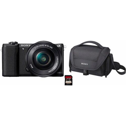 Sony »Alpha ILCE-5100L« Systemkamera (24,3 MP, NFC, WLAN (Wi-Fi), inkl. 16-50mm Objektiv), schwarz