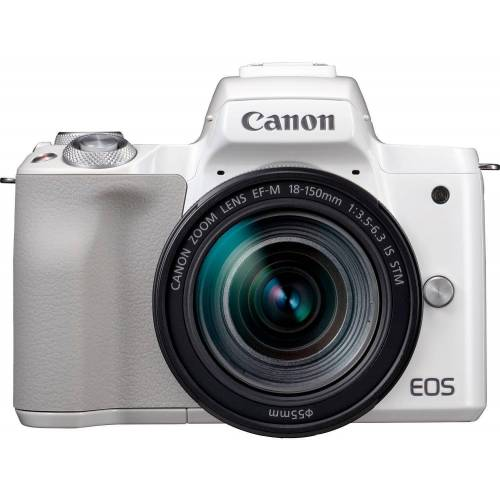 Canon »EOS-M50 EF-M18-150 Kit« Systemkamera (EF-M 18-150mm f/3.5-6.3 IS STM, 24,1 MP, NFC, WLAN (Wi-Fi), Bluetooth), weiß