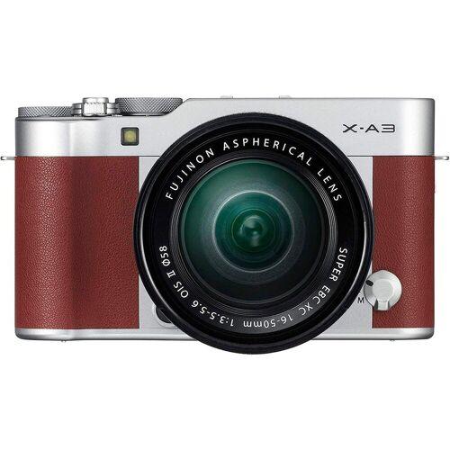 Fujifilm »X-A3« Systemkamera (FUJINON XC16-50mm F3.5-5.6 OIS II, 24,2 MP, WLAN (Wi-Fi), braun