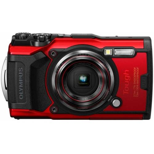 Olympus »Tough TG-6« Outdoor-Kamera (12 MP, 4x opt. Zoom, WLAN (Wi-Fi), rot