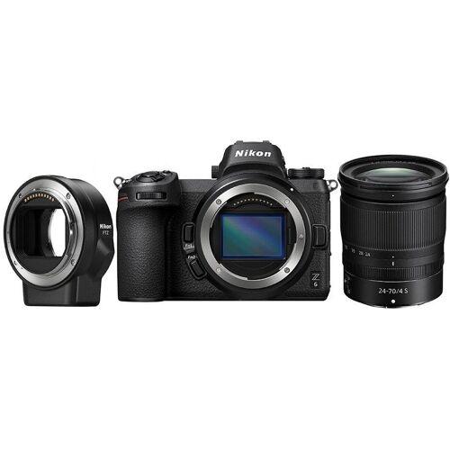 Nikon »Kit Z 6 24–70 mm 1:4 + FTZ« Systemkamera (NIKKOR Z 24–70 mm 1:4 S, 24,5 MP, Bluetooth, WLAN (Wi-Fi)