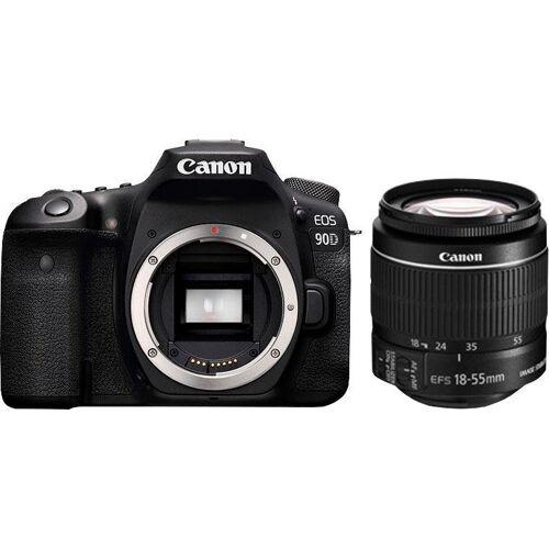 Canon »EOS 90D EF-S 18-55mm f/3.5-5.6 IS STM« Spiegelreflexkamera (EF-S 18-55mm f/3.5-5.6 IS II, 32,5 MP, WLAN (Wi-Fi), Bluetooth)