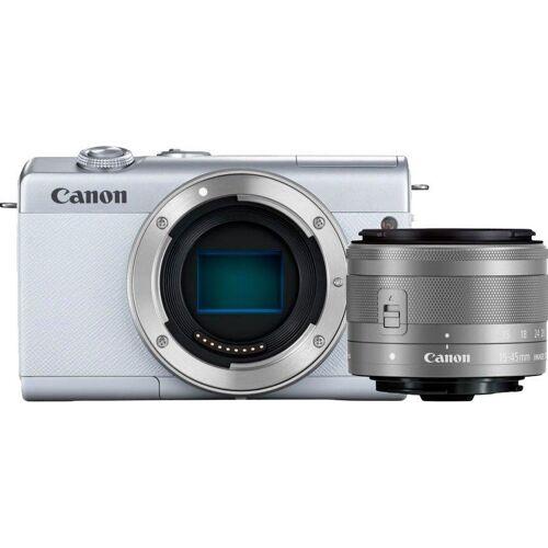 Canon »EOS M200 EF-M 15-45mm f3.5-6.3 IS STM Kit« Systemkamera (EF-M 15-45mm f/3.5-6.3 IS STM, 24,1 MP, Bluetooth, WLAN (Wi-Fi), weiß