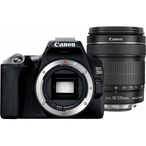Canon »EOS 250D EF-S 18-135mm f3.5-5.6 IS STM« Kompaktkamera (EF-S 18-135mm f3.5-5.6 IS STM, 24,1 MP, Bluetooth, WLAN (Wi-Fi)