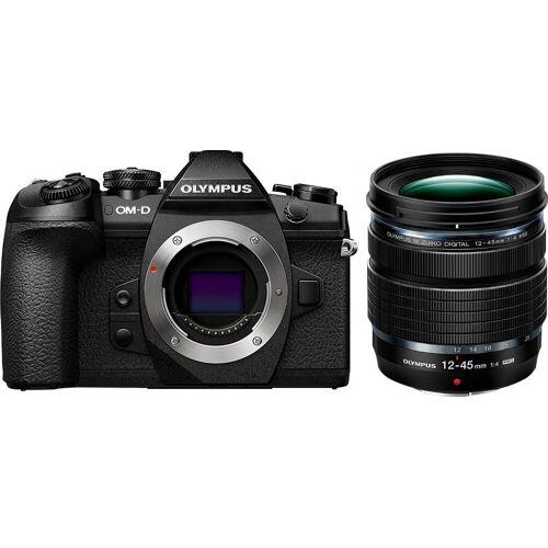 Olympus »E-M1II Body + M.Zuiko ED 12-45mm PRO« Systemkamera (Flash FL-LM3, BLH-1, BCH-1, USB Cable CB-USB11, Cable holder CC-1)