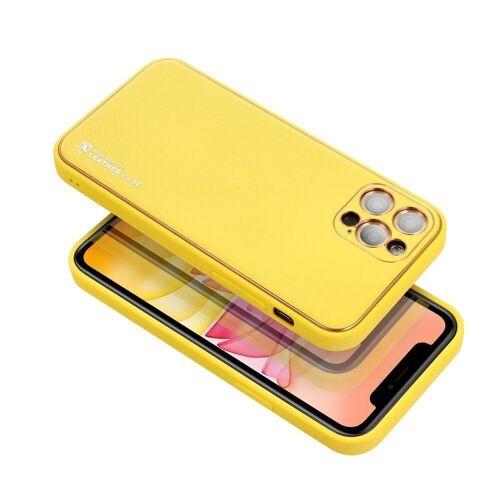cofi1453 Handyhülle »Leder Case Hülle Handyschale Handy-Hülle« iPhone 12 Pro Max, Leder Case Hülle Handyschale Handy-Hülle Cover Bumper, Gelb
