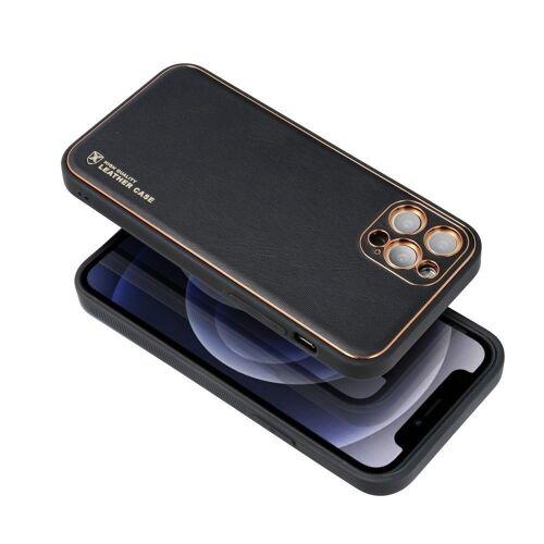 cofi1453 Handyhülle »Leder Case Hülle Handyschale Handy-Hülle« iPhone 12, Leder Case Hülle Handyschale Handy-Hülle Cover Bumper, Schwarz
