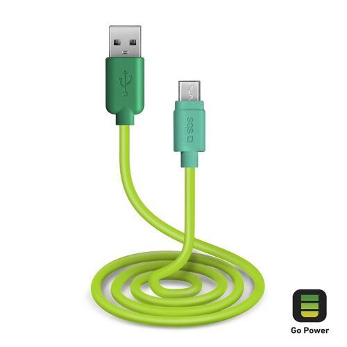 sbs »Handy Ladekabel & Datenkabel, Micro USB auf USB 2.0, 1 Meter, grün« Smartphone-Kabel
