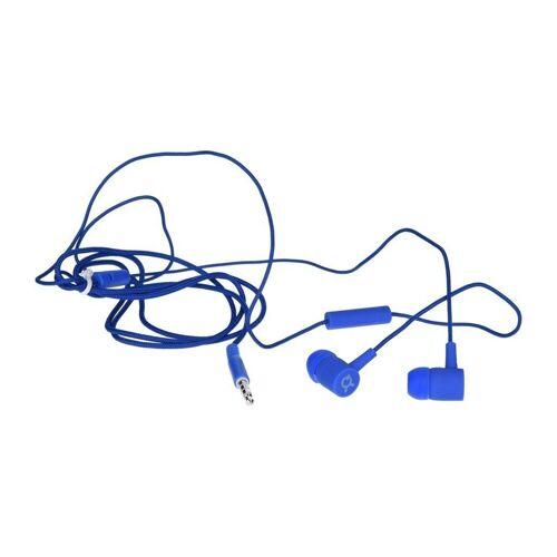 exquisit »ie20 Headset Kopfhörer Ohrhörer in blau 3,5 mm Klinke« Smartphone-Headset