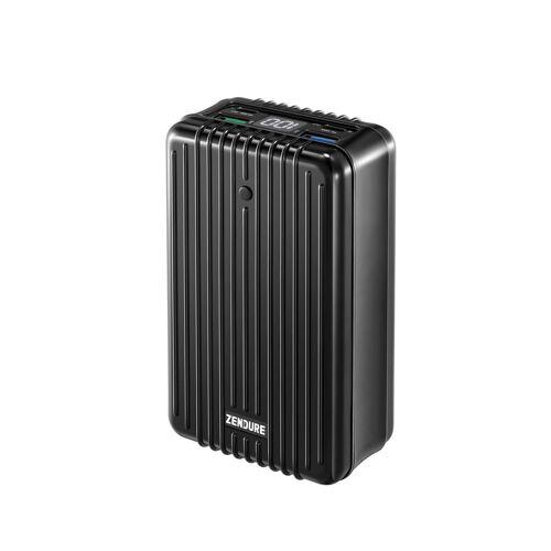 Zendure »Supertank« Powerbank 100W, 2 USB-C Ports, 2 USB-A Ports, Passthrough Charging, LED Akkuanzeige, handgepäcks-tauglich 27000 mAh (1 St), schwarz