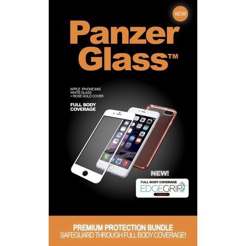 PanzerGlass Schutzglas »Apple iPhone 6/6s w. TPU Case«, Roségold-Weiß