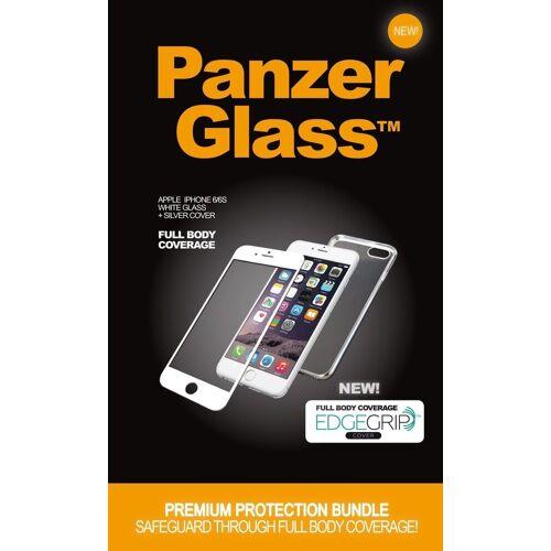 PanzerGlass Schutzglas »Apple iPhone 6/6s w. TPU Case«, Silber-Weiß