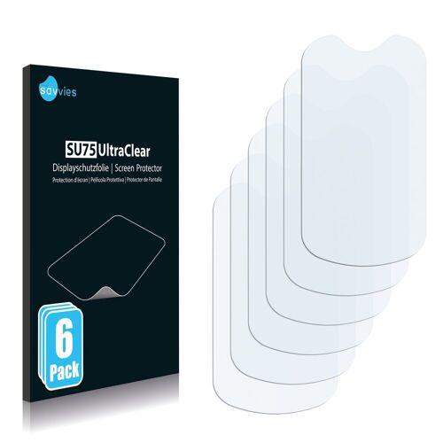 Savvies Schutzfolie »für Alcatel One Touch OT-708 One Touch MINI«, (6 Stück), Folie Schutzfolie klar