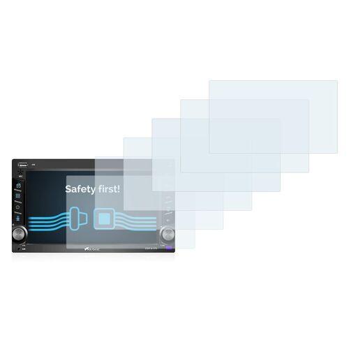 Savvies Schutzfolie »für NavGear DSR-N 370«, (6 Stück), Folie Schutzfolie klar