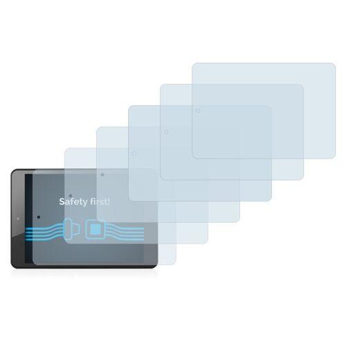 Savvies Schutzfolie »für Brondi Surfing Tab 1 Wifi«, (6 Stück), Folie Schutzfolie klar