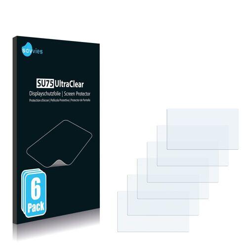 Savvies Schutzfolie »für NavGear GTA-50-3D«, (6 Stück), Folie Schutzfolie klar